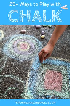 You will love these chalk activities for preschoolers! Everything from using them with art, in the sensory bin, and as part of a science activity. Fun and playful ideas! #chalk #play #outdoors #finemotor #art #preschool #toddler #age2 #age3 #teaching2and3yearolds Activities For 2 Year Olds, Outdoor Activities For Kids, Outdoor Learning, Hands On Activities, Infant Activities, Science Activities, Time Planner, Kids Daycare, Easy Science Experiments