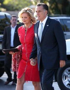 Ann & Mitt Romney head to final debate prep in Boca Raton, Florida 10/21/12