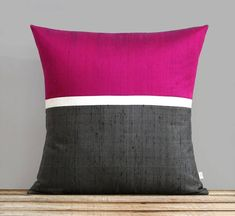 Red Silk Horizon Line Pillow Cover with Cream and Charcoal Gray Stripes by JillianReneDecor, Luxury Gift for Her, Holiday Pillow : Red Silk Horizon Line Pillow Cover with Cream and Charcoal Gray Stripes by JillianReneDecor, Luxury Diy Pillows, Cushions On Sofa, Decorative Pillows, Scatter Cushions, Throw Pillows, Cushion Cover Designs, Cushion Covers, Pillow Covers, Luxury Gifts For Her