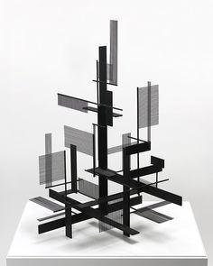 Very Constructivist : Sidney Gordin Concept Models Architecture, Art And Architecture, Interaktives Design, Theo Van Doesburg, Instalation Art, Sculpture Metal, 3d Modelle, Arch Model, Modelos 3d