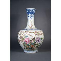 Chinese Republic Period Famille Rose Vase Kangxi