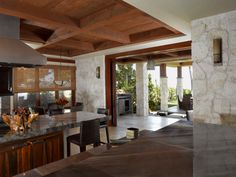 Ocean Front - tropical - kitchen