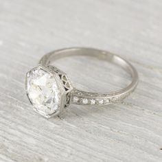 2.30 Carat Vintage Art Deco Engagement Ring on Etsy, $27,500.00| it's official! This WILL be my engagement ring!