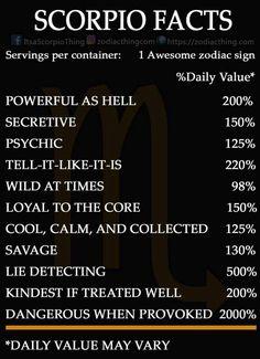 Scorpio Facts