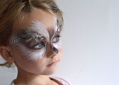 Just So Festival Tribal Tournament Preparation Owl Face Paint 02 lapinblu
