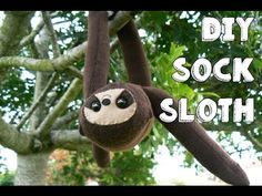 Sock Sloth · How To Make A Sloth Plushie · Sewing on Cut Out + Keep · How To by Lauren