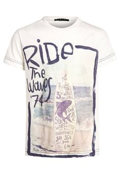 Sisley - Print T-shirt - offwhite