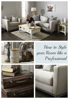 How to Style your Living Room like a Professional ~ http://lovechicliving.co.uk/style-living-room-like-professional/