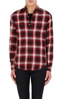 SAINT LAURENT Satin Western Shirt. #saintlaurent #cloth #shirt
