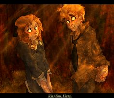 Pretty darn amazing Book Thief fan art! Liesel and Rudy! <3 <3 <3 makes me sob every time!