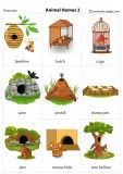 Animal Homes flashcards Preschool Learning Activities, Toddler Learning, Letter Flashcards, English Vocabulary Words, Kids Pages, Music And Movement, Grammar Lessons, English Language Learning, Education English