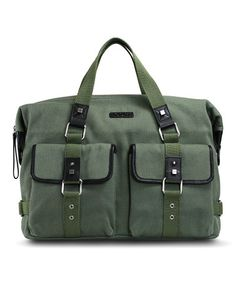 d6984c23a7972 BODHI Green   Black Canvas Twill Vintage Army Tote