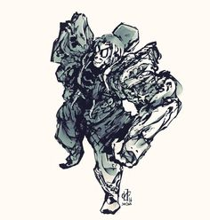 50 !   050/365  #365paintings #art #artsy #illustration #dessin #drawing #digitalpainting #painting #robot #armor #fantasy #man #charadesign #stylized #krita by adlsl