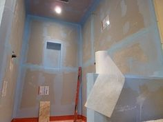 """▶ How to waterproof and tile walk-in tile shower DIY- step by step instructions - part """"1"""" of 2 - YouTube"""