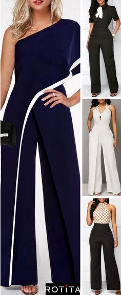 Jumpsuits are in trend this season. Women can rock this look effortlessly with these jumpsuit outfit ideas! Lets get started! Vestidos Sport, Outfit Elegantes, Jumpsuit Outfit, Jumpsuit With Sleeves, I Love Fashion, Jumpsuits For Women, Fashion Outfits, Womens Fashion, Elegant Dresses