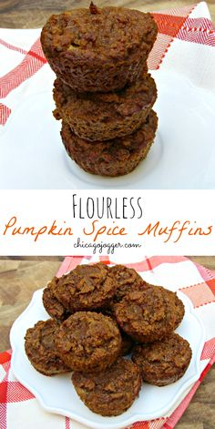 Flourless Pumpkin Spice Muffins - paleo, gluten free, & sweetened naturally with honey | chicagojogger.com