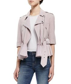 French Connection Soft Suede Tie-Waist Jacket - Earn when you shop or share on haveyouseen.com!