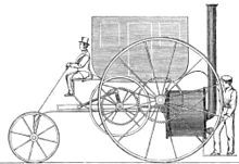 The London Steam Carriage was a steam-powered carriage built by Richard Trevithick in 1803. It was the world's first passenger- carrying vehicle that was not carried by an animal. It was just like a horse- drawn carriage with no need of the horse.