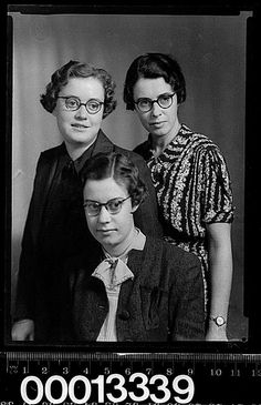 Group portrait of three women wearing glasses by Australian National Maritime Museum on The Commons, via Flickr