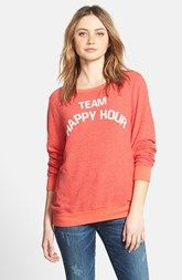 Wildfox 'Team Happy Hour' Pullover