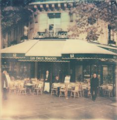 Les Deux Magots - famous French cafe frequented by Hemingway, Picasso and de Beauvoir.