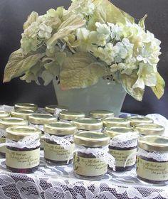 Hydrangea wedding theme wedding favors