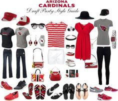 """""""Arizona Cardinals Draft Party Style Guide 2013"""" by @Arizona Cardinals Football Club on Polyvore #Cardinals #DRaft #NFL"""