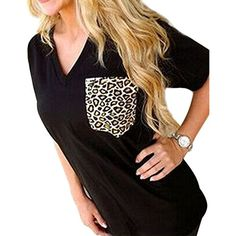 FUNOC® Ladies Women Loose Leopard Printing Chiffon Casual Tops T Shirt Blouse