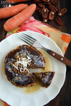 Hot cakes de zanahoria (se puede usar el bagazo de los jugos) www.pizcadesabor.com