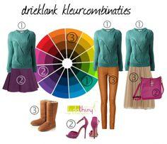 Zo maak je een drieklank kleurcombinatie #kleurcombinatie #colorcombination