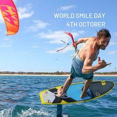 World Smile Day 2019 World Smile Day, Kitesurfing, Time Out, Waves, Joy, Inspiration, Biblical Inspiration, Gap Year, Ocean Waves