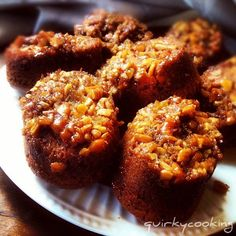 Quirky Cooking: Sticky Pecan Muffins - easy convert to Gluten free use GF flour or Almond meal