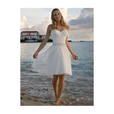 White Strapless Sweetheart Satin Chiffon Wedding Dress