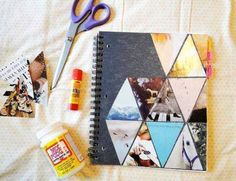 Tessellated notebook decoration