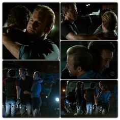 """McDanno Moment #H50 S2E22 """"Ua Hopa"""" so cute the way Steve bends down to reach Danny's height when they hug !!!"""
