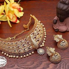 Broad Gold Diamond Bangle from Bhavani Jewellers ~ South India Jewels Diamond Jhumkas, Diamond Bangle, Diamond Pendant Necklace, Stone Necklace, Necklace Set, Gold Necklace, Real Gold Jewelry, Gold Jewelry Simple, Gold Jewellery