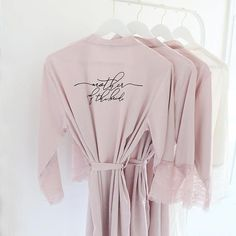 Satin and Lace Bridal Robes - Mother of the Groom Custom Gift White Teal  Black Blush Mauve Satin Bridal Party Robes Bridesmaid Robes Lace 29e9844c3