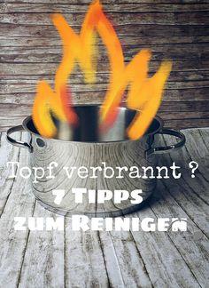 7 Tipps um angebrannte Töpfe zu reinigen - auf meinem Blog www.ge-sagt.de Putz Hacks, Superhero Logos, Cleaning Hacks, Life Hacks, Blog, Household, Storage, Clean Burnt Pots, Useful Tips