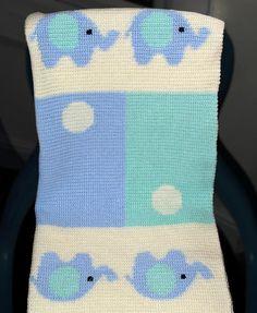 (4) Name: 'Crocheting : Crochet Baby Blanket / Afghan Elephants