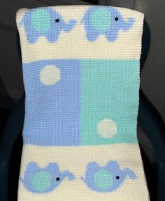 (4) Name: 'Crocheting : Crochet Baby Blanket / Afghan Elephants
