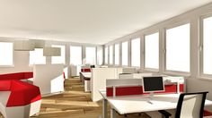 Large office with Sofas by Steelcase