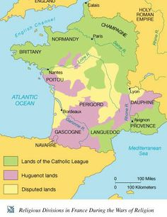 Religious Divisions in France During the Wars of Religion