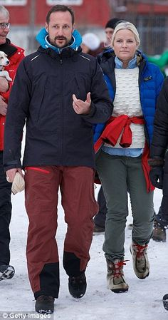 Attendees: Crown Prince Haakon and his wife Mette-Marit (pictured in Oslo last week) also attended