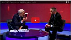 Journalist Shows Coca Cola President How 44 Bags of Sugar are in a Large Coke!  Classic…!