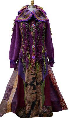 Long Woodland style sweater Coat fantasy boho patchwork