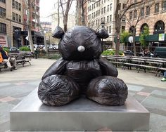 Although Gim Hong-sok's bear looks much more fragile and lighter, its actual finish is resin…""