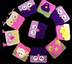Quick and Easy Crocheted Coffee Cup Cozy. Confusing explanation but simple enough to do. may use info from owl beanie to make these owl coffee cup cozies :) Crochet Coffee Cozy, Crochet Cozy, Crochet Gifts, Free Crochet, Owl Crochet Patterns, Knitting Patterns, Yarn Projects, Crochet Projects, Coffee Cup