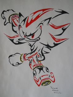 shadow the hedgehog | Shadow the Hedgehog Tribal by ArchangelVampire on deviantART