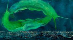 Andrea Massaioli è il pittore del blu, dei baci, delle lumache, degli adolescenti e dei cieli notturni, ma il soggetto dei suoi quadri non è