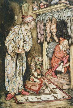 The Night Before Christmas....Arthur Rackham